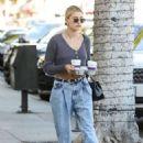 Hailey Bieber – Makes a coffee run in Beverly Hills