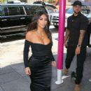 Kim Kardashian in Black Dress – Arrives to Ulta Beauty in New York