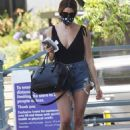 Ashley Greene – Wearing denim shorts out in Los Angeles