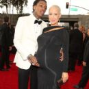 Amber Rose and Wiz Khalifa arrive at the 55th Annual GRAMMY Awards at the Staples Center in Los Angeles, California - February 10, 2013 - 396 x 594