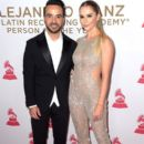 Luis Fonsi and Agueda Lopez– 2017 Person of the Year Gala Honoring Alejandro Sanz - Arrivals - 394 x 600