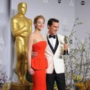 Jennifer Lawrence and Matthew McConaughey - The 86th Annual Academy Awards - Press Room - 407 x 612