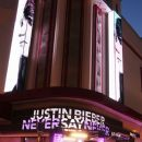 """Justin Bieber arriving at the French premiere of his movie of """"Never Say Never at Grand Rex Theater. February 17, 2011"""