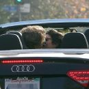 Austin Butler and Vanessa Hudgens were spotted sharing a kiss in West Hollywood, January 7