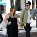Hilary Duff in Long Black Dress – Out in Studio City