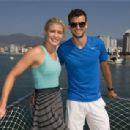 Grigor Dimitrov and Eugenie Bouchard at Abierto Mexicano Telcel 2014 in Acapulco