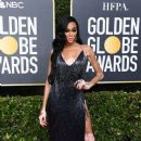 Winnie Harlow wears LaQuan Smith dress : 77th Annual Golden Globe Awards