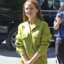 Zoey Deutch in Green – Out in New York City