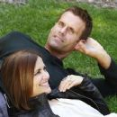 Rebecca Budig and Cameron Mathison