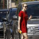Rachel McAdams goes out for coffee witha friend in Los Angeles 10/1/2011