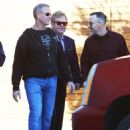 Elton John does some shopping in West Hollywood, California with his husband David Furnish on January 2, 2015