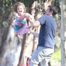 Alyson Hannigan out in park with her family