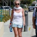 Britney Spears In Shorts Out In Calabasas