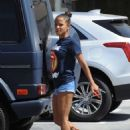 Christina Milian in Shorts – Out in Studio City - 454 x 623