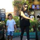 Kourtney Kardashian In Tights Out In La