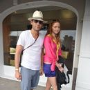 Lily Cole and Enrique Murciano shopping at Gustavia in St. Barthelemy - December 31, 2009 - 454 x 682