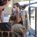 Olivia Culpo – Visits the Vet with her New Puppy Oliver Sprinkles in LA