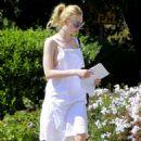Elle Fanning in White Dress out in LA - 454 x 681