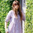 Jessica Biel visiting a friends home in Brentwood, CA (July 31)