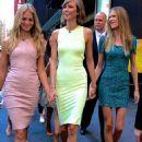Erin Heatherton, Karlie Kloss, and Behati Prinsloo at