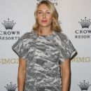 Maria Sharapova of Russia arrives for Crown's IMG@23 Tennis Players' Party at Crown Entertainment Complex on January 18, 2015 in Melbourne, Australia