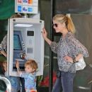 Selma Blair and her son spend the day at the Studio City farmers' market