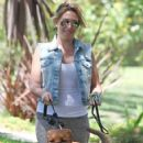 Haylie Duff: out walking her two dogs in Toluca Lake