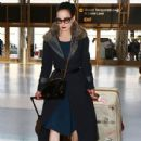 Dita Von Teese departing on a flight at LAX airport in Los Angeles, California on March 22, 2015