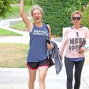 Kaley Cuoco Leaving Workout in Studio City - 454 x 590