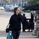Alessandra Ambrosio – Going to the gym in Malibu