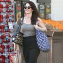 'The Mentalist' actress Robin Tunney stops by Bristol Farms in West Hollywood, California to purchase some groceries on January 16, 2015
