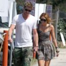 Miley Cyrus and Liam Hemsworth At Paty's Diner Toluca Lakse Ca  July 1,2010