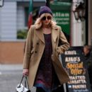 Fearne Cotton: strolls to work at BBC Radio 1 in London