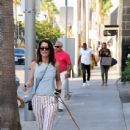 'The Mentalist' actress Robin Tunney is spotted out walking her dog in Beverly Hills, California on August 18. 2015 - 437 x 600