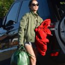 Cara Santana in Cut-offs out in Palm Springs - 454 x 683