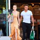 Brie Larson in Long Summer Dress – Shopping in Calabasas