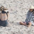 Jessica Alba on the beach in Puerto Vallarta