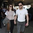 Rose Leslie and Kit Harington – Arrives at LAX airport in Los Angeles