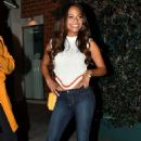 Christina Milian in Tight Jeans at Mr. Chow in Beverly Hills - 454 x 681