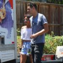 Sarah Hyland and Wells Adams – Share a kiss in Studio City