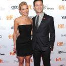 Scarlett Johansson & Joseph Gordon-Levitt in LBD at the premiere of new movie Don Jon