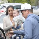 Pro skateboarder and entertainer Rob Dyrdek is spotted out with his wife Bryiana and son Kodah in Los Angeles, California on March 26, 2017 - 447 x 600
