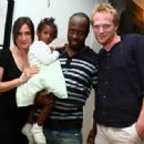 Wyclef Jean with daughter, and Paul Bettany and Jennifer Connelly at Bambai Bling benefit