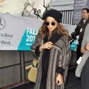 Zoe Kravitz is spotted attending the Mercedes-Benz Fashion Week in New York City