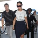 Demi Lovato Arriving at LAX airport in Los Angeles - 454 x 681