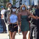 Cara Delevingne and Kaia Gerber – Showing legs while attending a BLM protest in Los Angeles