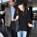 Lea Michele: At lax airport