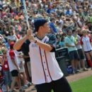 Scotty McCreery participated in the City of Hope Celebrity Softball Challenge today, June 9, at Greer Stadium in Nashville - 395 x 594