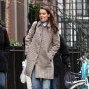 Katie Holmes walks with her friend around Manhattan, New York's West Village neighborhood on January 10, 2017 - 415 x 600