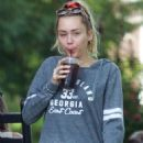 Miley Cyrus in Shorts – Out in Nashville - 454 x 681